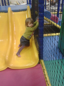 the gallery, Rascals, climbing up slide,